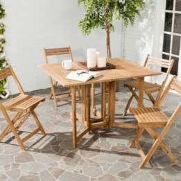 Rectangular folding outdoor dining tables design ideas 37