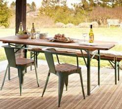 Rectangular folding outdoor dining tables design ideas 40