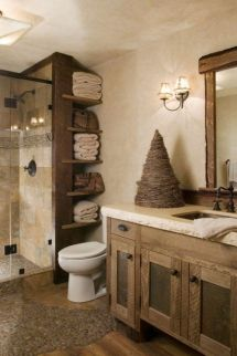 Rustic diy bathroom storage ideas (19)