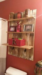 Rustic diy bathroom storage ideas (22)