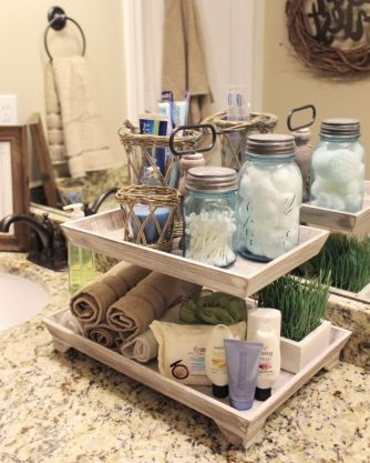 Rustic diy bathroom storage ideas (26)