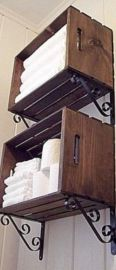Rustic diy bathroom storage ideas (37)