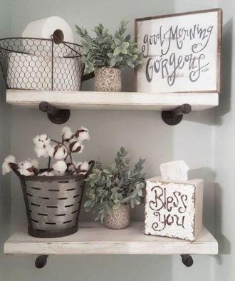 Rustic diy bathroom storage ideas (38)