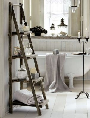 Rustic diy bathroom storage ideas (39)