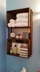 Rustic diy bathroom storage ideas (4)