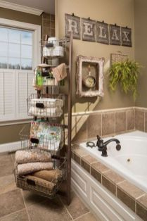 Rustic diy bathroom storage ideas (45)