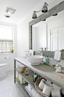 Rustic diy bathroom storage ideas (46)