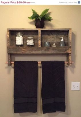 Rustic diy bathroom storage ideas (52)