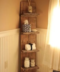 Rustic diy bathroom storage ideas (6)
