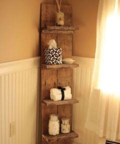 Rustic diy bathroom storage ideas (6)
