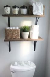 Rustic diy bathroom storage ideas (8)