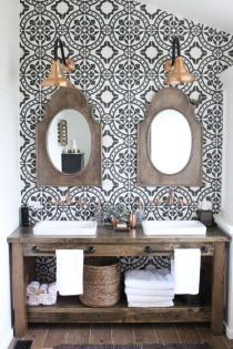 Rustic farmhouse bathroom ideas you will love (11)