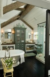 Rustic farmhouse bathroom ideas you will love (22)