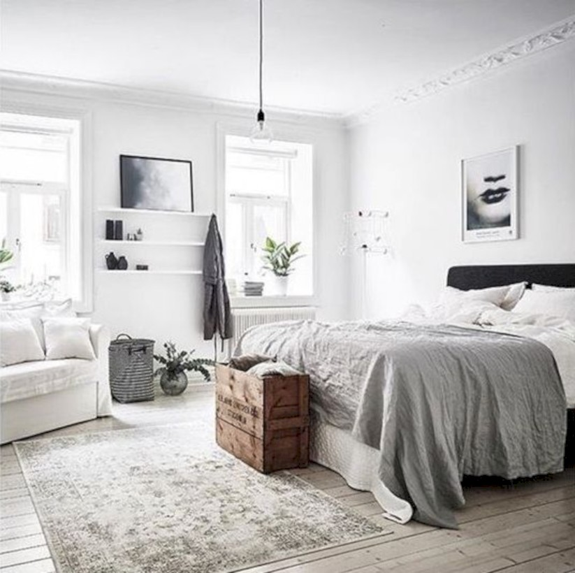 55 Scandinavian Bedroom Ideas for Small Apartment Round Decor