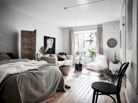 Scandinavian bedroom ideas for small apartment 33