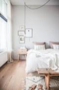 Scandinavian bedroom ideas for small apartment 34