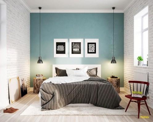 Scandinavian bedroom ideas for small apartment 38
