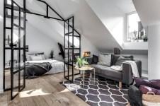 Scandinavian bedroom ideas for small apartment 40
