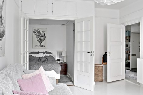 Scandinavian bedroom ideas for small apartment 44
