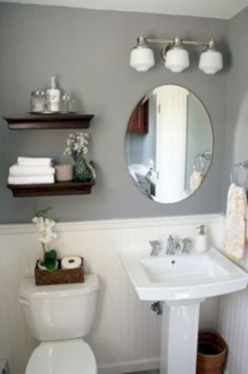Simple bathroom ideas for small apartment 12