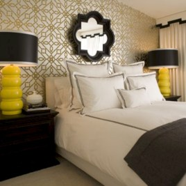 Simple bedroom design ideas with gold accents 12