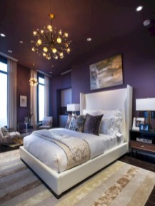 Simple bedroom design ideas with gold accents 48