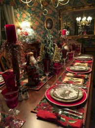 Stunning christmas table decorations ideas 21