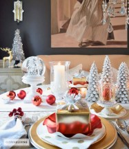 Stunning christmas table decorations ideas 25