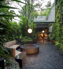 Stunning outdoor stone fireplaces design ideas 05
