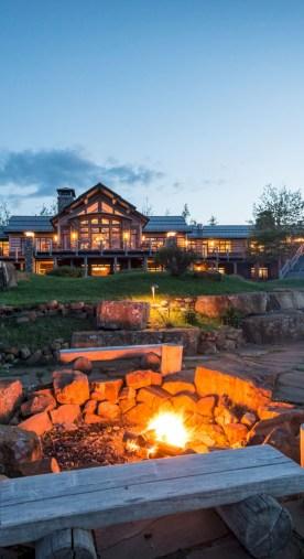 Stunning outdoor stone fireplaces design ideas 10