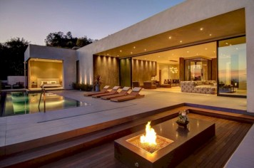 Stunning outdoor stone fireplaces design ideas 12