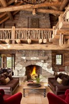 Stunning outdoor stone fireplaces design ideas 23