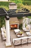 Stunning outdoor stone fireplaces design ideas 41