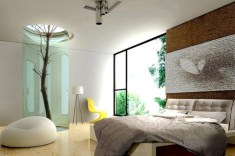 Stylish bedrooms with floor to ceiling windows 46