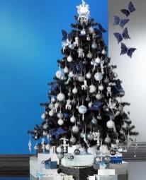 Stylish christmas décoration ideas with stylish black and white 16