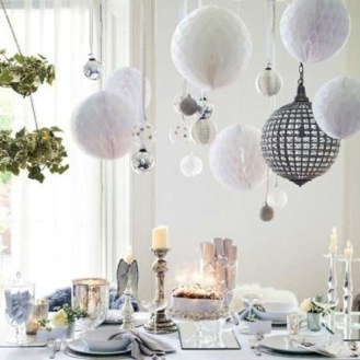 Stylish christmas décoration ideas with stylish black and white 17