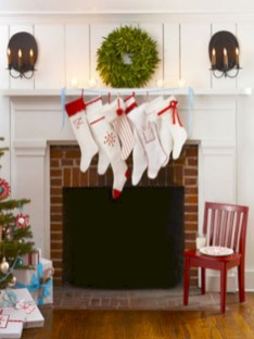 Stylish christmas décoration ideas with stylish black and white 33