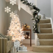Stylish christmas décoration ideas with stylish black and white 34