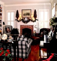 Stylish christmas décoration ideas with stylish black and white 44