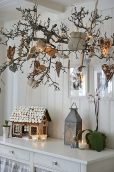 Stylish christmas décoration ideas with stylish black and white 50