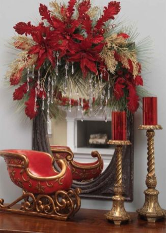 Stylish christmas decoration ideas using sleigh 23 23