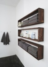 Unique diy bathroom ideas using wood (21)