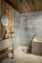 Unique diy bathroom ideas using wood (23)