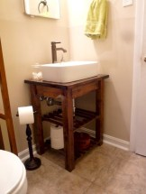 Unique diy bathroom ideas using wood (24)