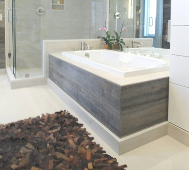 Unique diy bathroom ideas using wood (28)