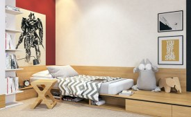Unisex modern kids bedroom designs ideas 22