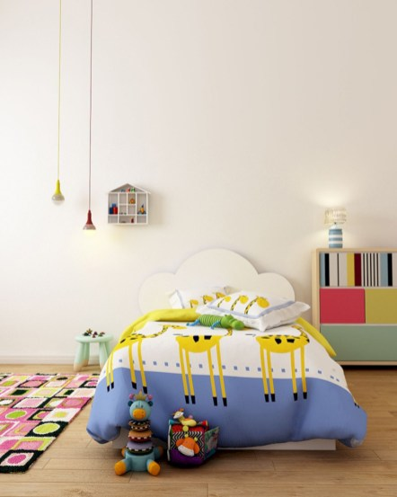 Unisex modern kids bedroom designs ideas 35