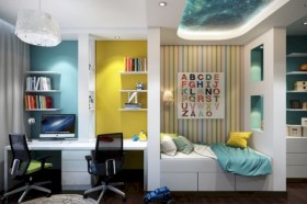 Unisex modern kids bedroom designs ideas 38