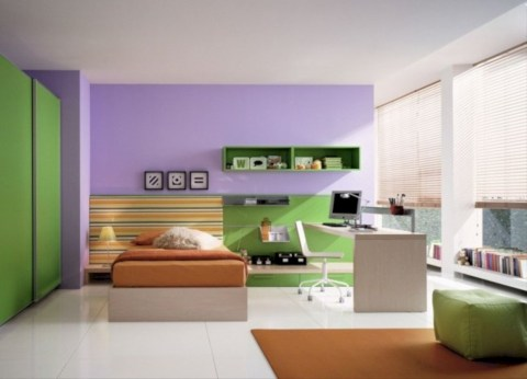 Unisex modern kids bedroom designs ideas 40