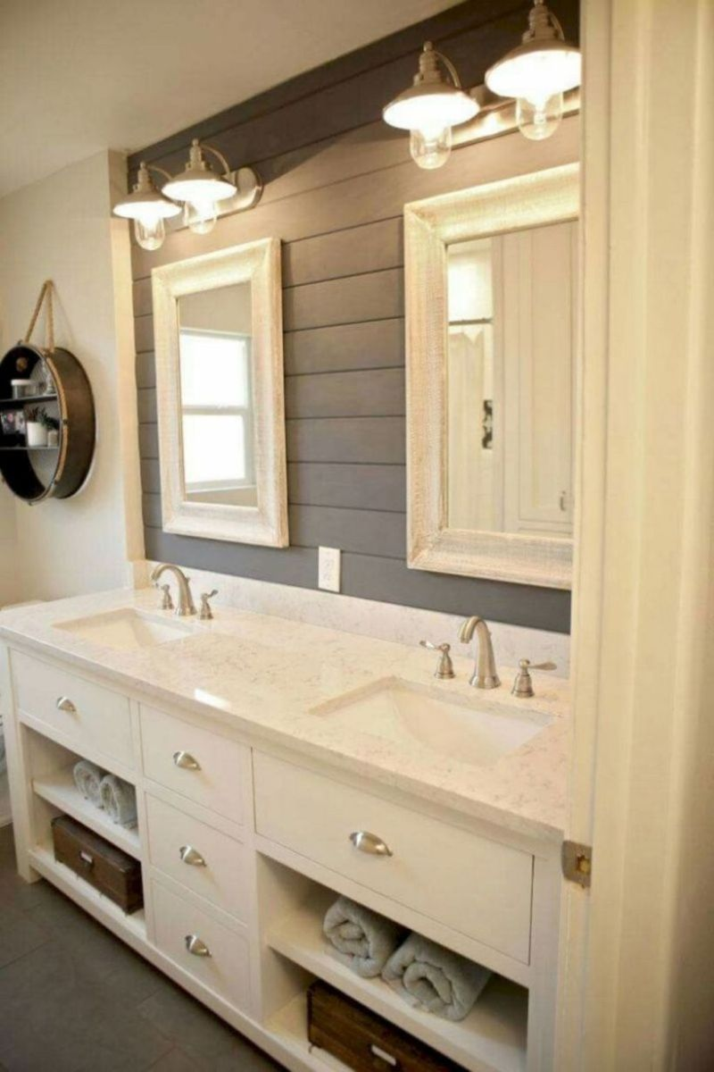 Vintage farmhouse bathroom ideas 2017 (47)